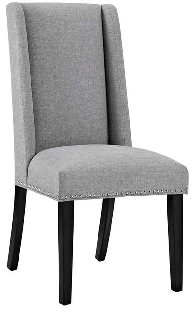 Modway Baron Fabric Dining Chair Transitional Dining