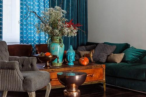 Houzz тур: Дом в ярких красках для собирателя древностей из Краснодара