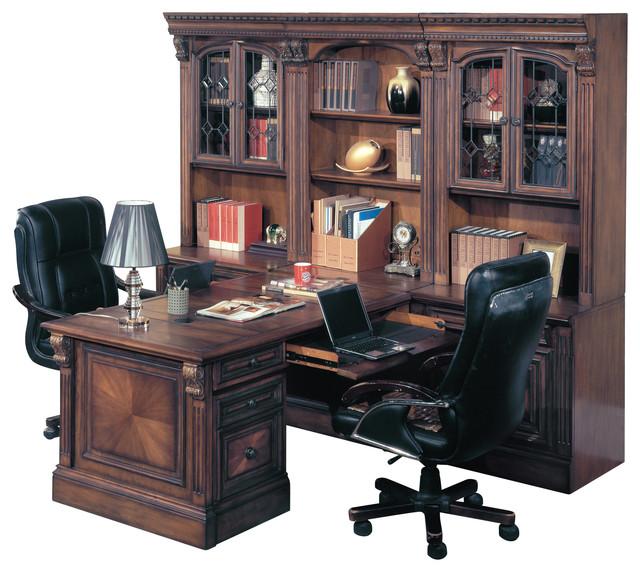 Merveilleux Huntington Office Peninsula Desk Wall Unit, 8 Piece