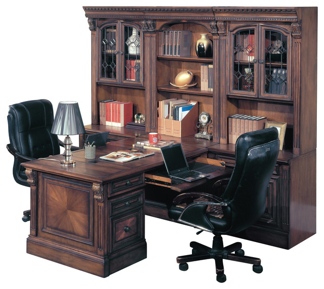 Parker House Huntington Office Peninsula Desk Wall Unit 8