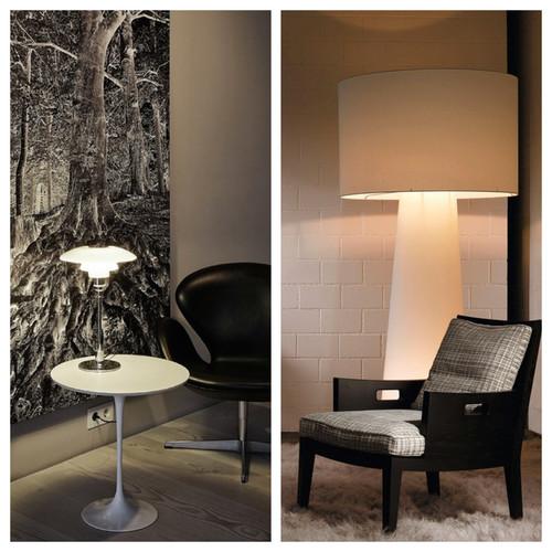 wohnzimmer und kamin moderne wohnzimmer stehlampe. Black Bedroom Furniture Sets. Home Design Ideas