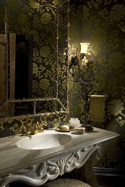Houston Estate eclectic powder room