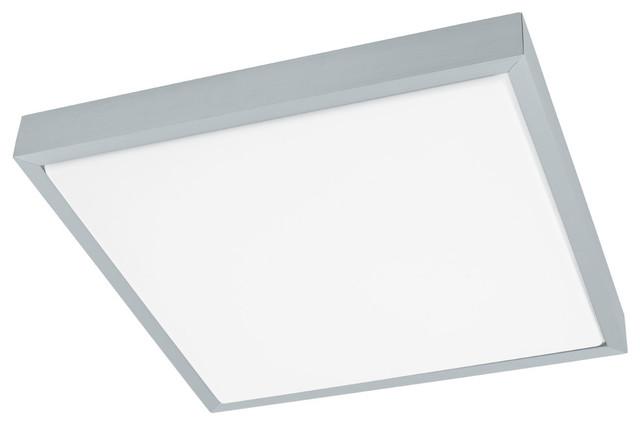 Eglo Idun 1 Ceiling Light, Brushed Aluminum.