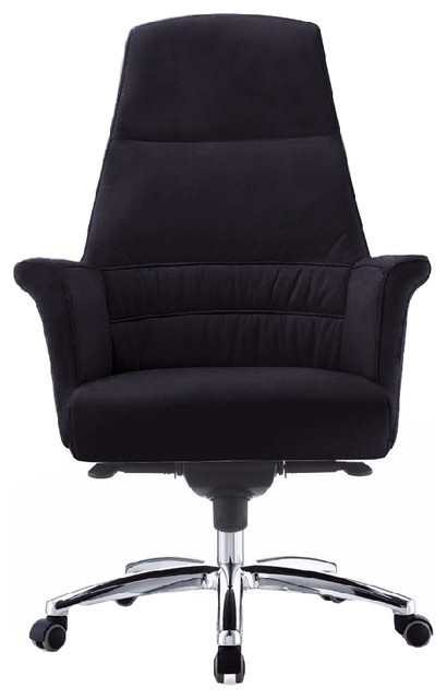 geffen genuine leather aluminum base high back executive chair