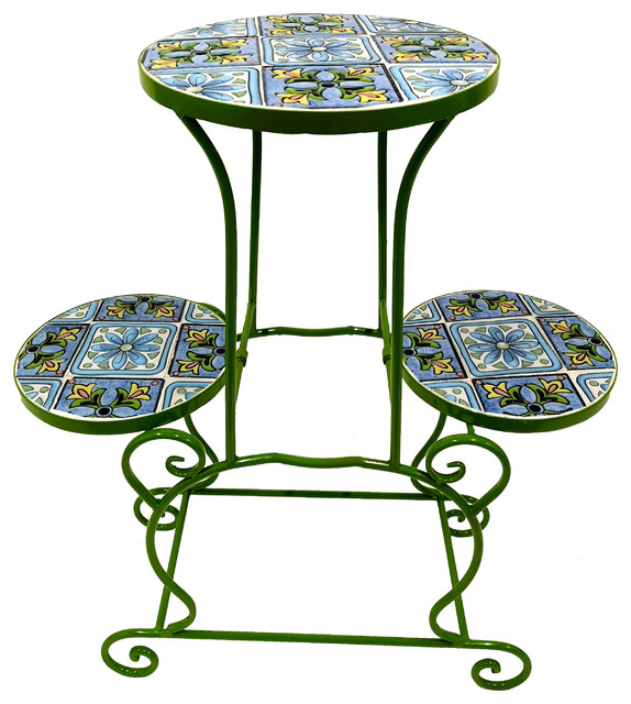 Indoor Outdoor Flower Plant Stand Rack Perfect For Pots Garden Mediterranean Stands And Telephone Tables By Myfun Corp