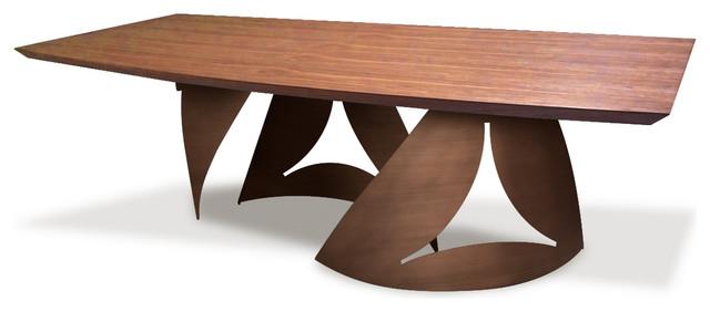 Aico Michael Amini Trance Parallel Rectangular Wood Dining