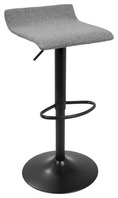 Incredible Ale Xl Contemporary Adjustable Barstools Black And Gray Set Of 2 Alphanode Cool Chair Designs And Ideas Alphanodeonline