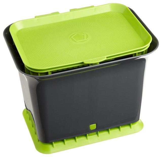 Countertop Compost Bin Contemporary Compost Bins By