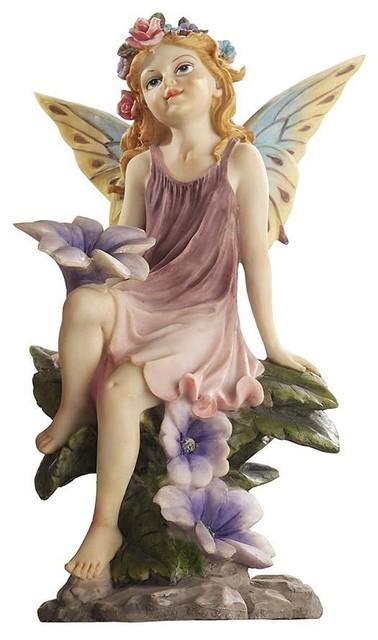 Classy Pixie Garden Fairy Sculpture Traditional Garden Statues And Yard Art