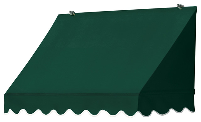 4' Traditional Awnings in a Box, Forest Green ...