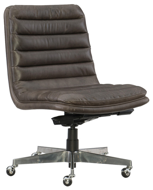 Hooker Furniture Ec 097 Memento Medal Leather Home Office Chair.