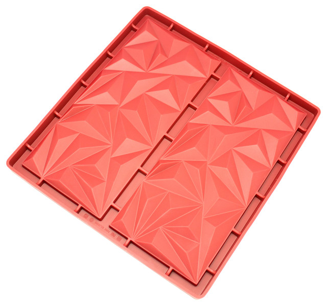 Freshware 2-Cavity Silicone Diamond Mold.