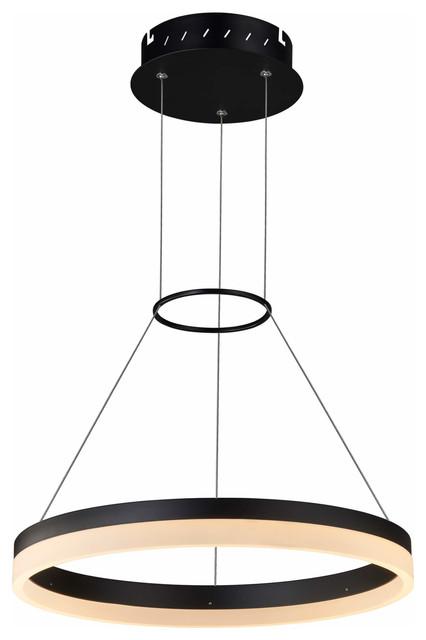 Tania LED Chandelier With Adjustable Suspension, Black