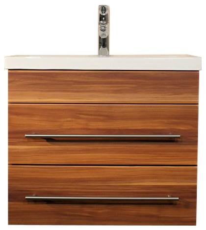 Emotion Mars 600 Bathroom Furniture, White High-Gloss, 60 cm, Walnut Semi-Gloss