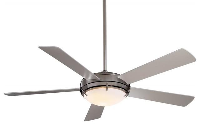 Two Light Brushed Nickel Ceiling Fan.