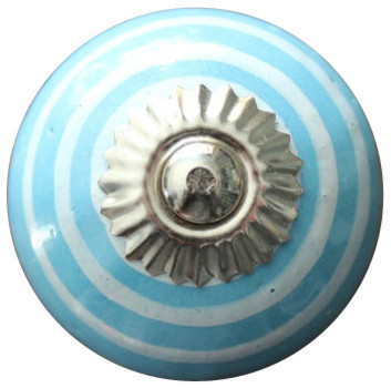 ceramic cabinet knobs flowers drawer blue white contemporary kitchen uk ebay
