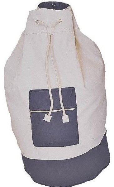 """Homebasix Cotton Laundry Bag With Strap, 15""""x29""""."""