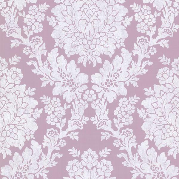 liza purple roselle damask wallpaper bolt contemporary wallpaper - Contemporary Damask Wallpaper