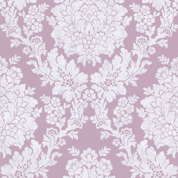 Liza Purple Roselle Damask Wallpaper Bolt