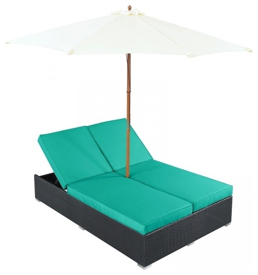 Arrival outdoor patio chaise contemporary outdoor for Chaise longue bleu turquoise