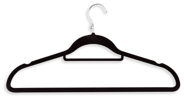 Velvet Touch Suit/dress Hanger, Black, 18 Pack.