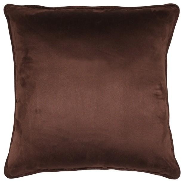 Pillow Decor - Sedona Microsuede Chocolate Brown Throw Pillow 22x22.