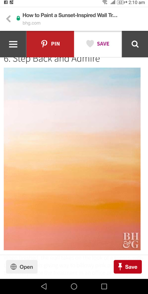 Bedroom Wall Ombre Sunset