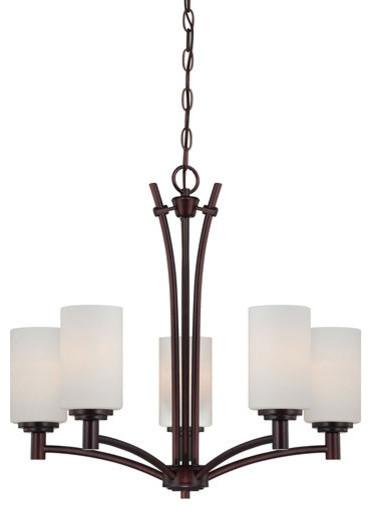 Transitional Pittman 5-Light Chandelier, Sienna Bronze