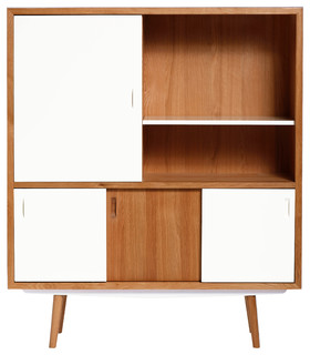 High cabinet scandinavian kitchen cabinets by red for Kitchen cabinets france