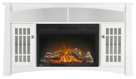 "Napoleon Nefp27-0815w The Adele Mantel With Cinema 27"" Electric Fireplace."