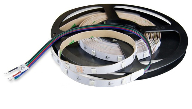 Double Bright RGB LED Strip 16' Kit With Remote