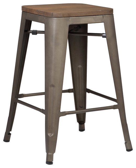 Trattoria 24 Quot Counter Height Stool Black Set Of 4