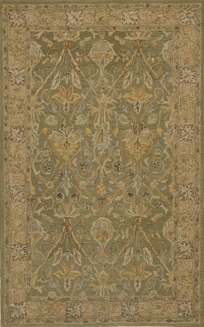 Rugsville Sibel Persian Style Sage Green Traditional Wool Rug 10525 8x10  Traditional Area