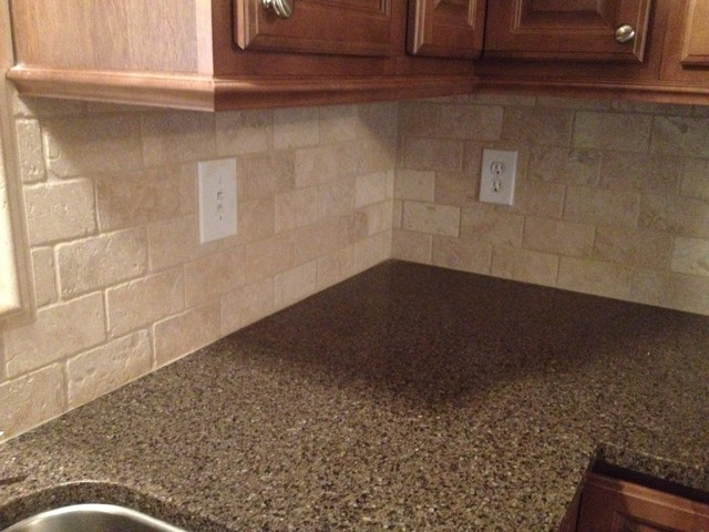 Kraftmaid Cabinetry Hanover Maple Rye Finish Charlotte By. Kelsey Creek  Quartz Countertops Allen Roth