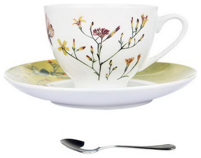Vintage espresso cup Soviet ceramic espresso cup Unique coffee cup with floral design