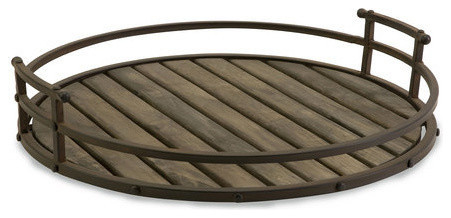 Vermont Iron And Wood Tray.