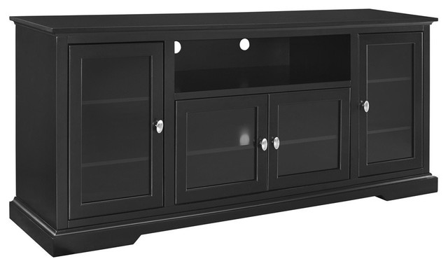 70 Black Wood Highboy Tv Stand Traditional Entertainment