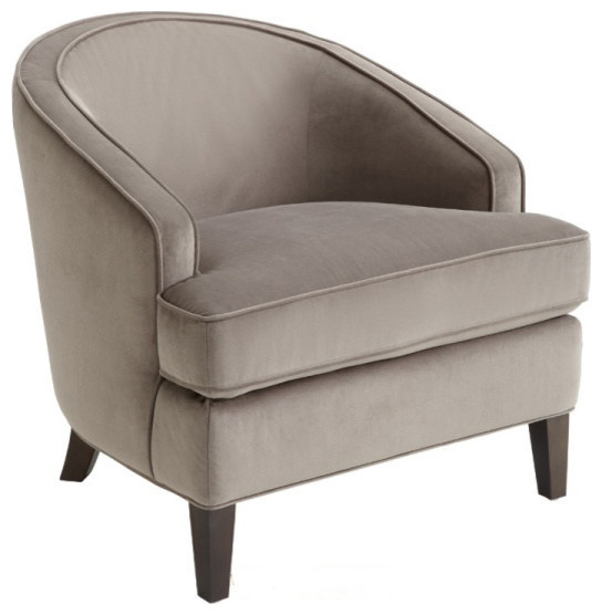 Barrel Back Chair, Gray Transitional Armchairs And Accent Chairs