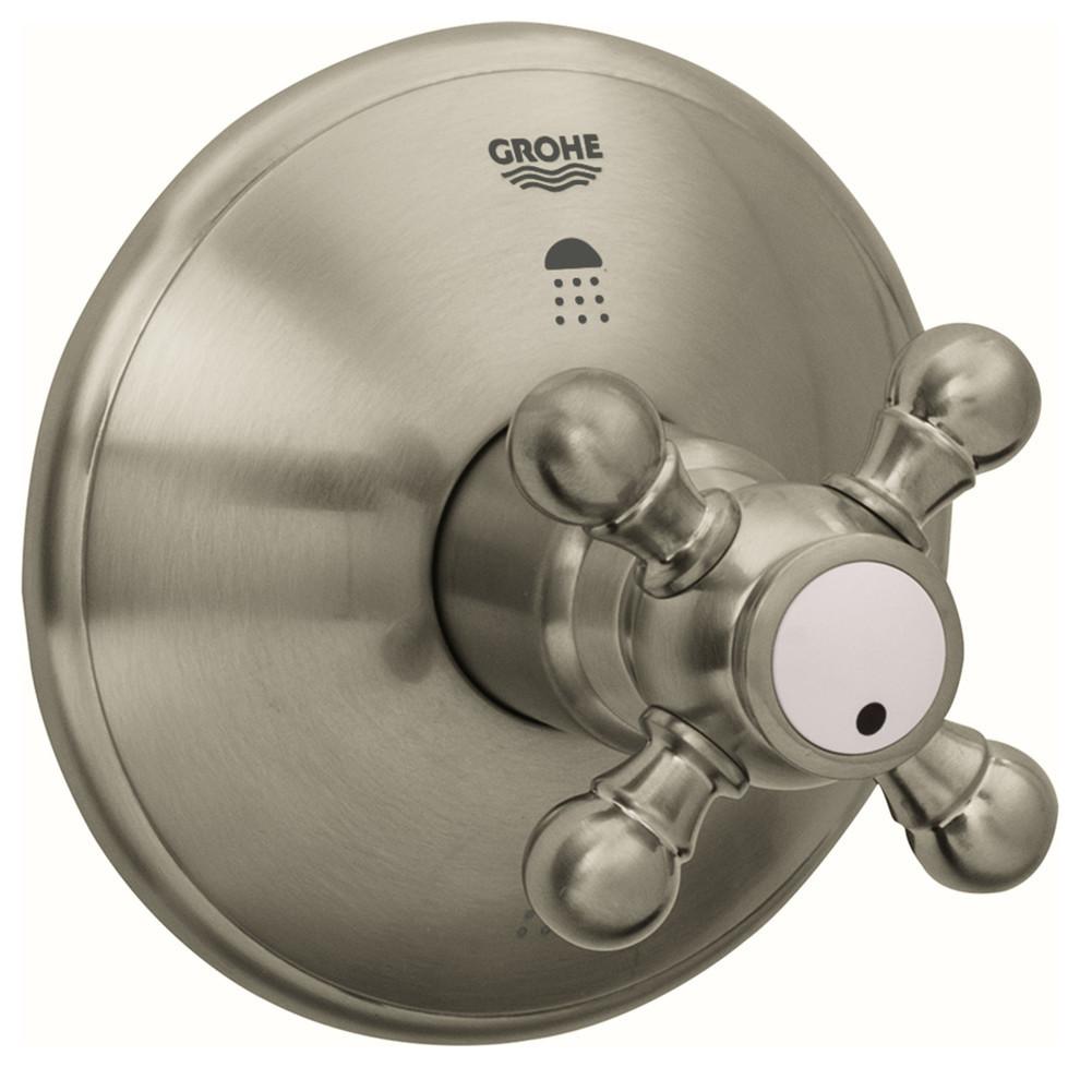 Geneva Single Handle 3 Port Diverter Trim Kit Cross Handle Traditional Tub And Shower Parts By American Standard Brands