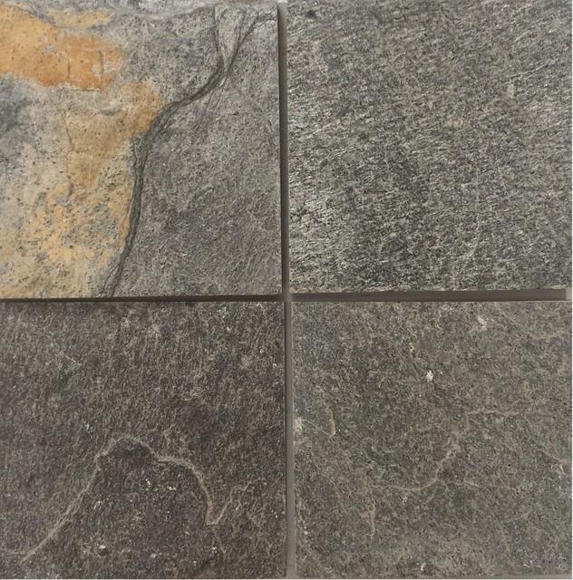 Ostrich Gray Slate Tiles Natural Cleft Face Gauged Back