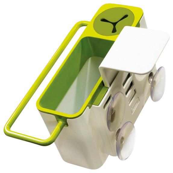 Joseph Sink Aid Self Draining Tidy White Green Modern Kitchen