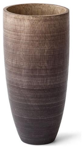 Arbo Mango Wood Vase Brown 12 Contemporary Vases By Hg Global