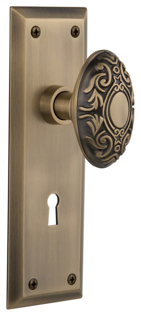 New York Plate Interior Mortise Victorian Door Knob Unlacquered Brass Traditional Doorknobs By Nostalgic Warehouse Houzz