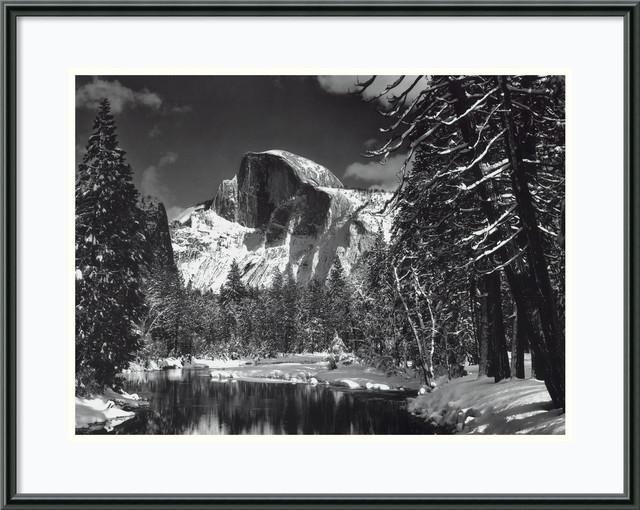 Half Dome, Winter, Yosemite National Park, 1938 Framed Print by ...