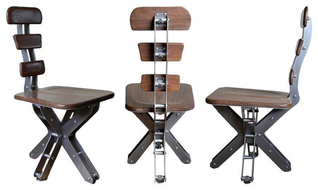 Industrial Design Chairs Walnut Mini Truss Chairbrandner Design   Industrial