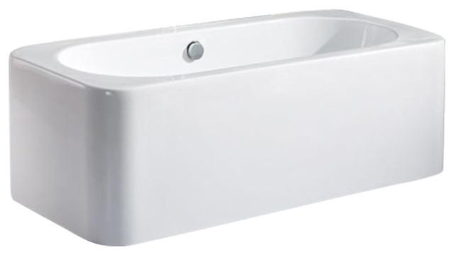 "Jacopi Acrylic Modern Freestanding Soaking Bathtub 71""."