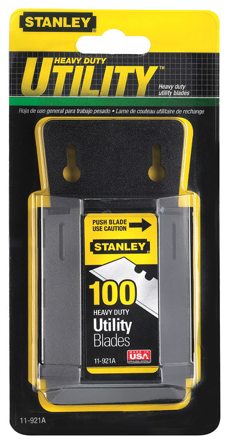 Stanley Hand Tools 100 Pack Utility Knife Blades And Dispenser.