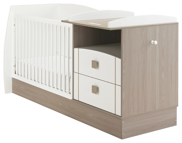 Jules convertible compact cot with storage drawers and for Table transformable conforama