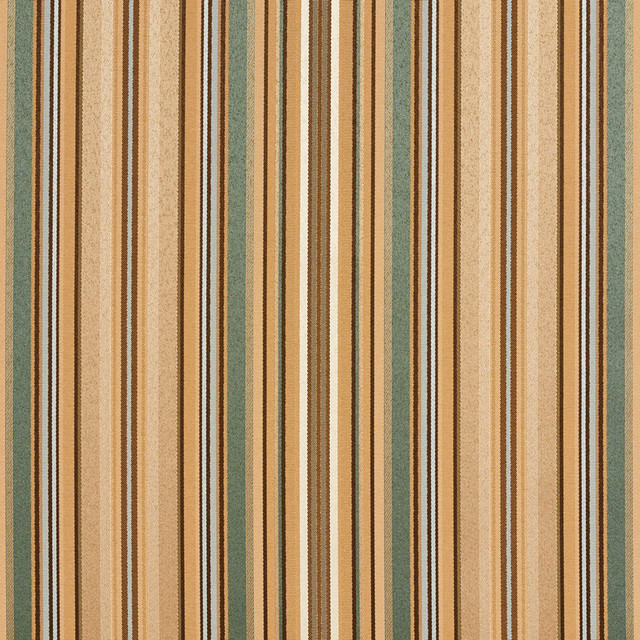 Green, Blue And Gold Shiny Thin Striped Faux Silk Upholstery Fabric ...