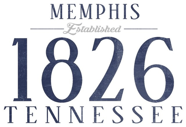 quotMemphis Tennessee Established Date Bluequot Print  : contemporary prints and posters from www.houzz.com size 640 x 438 jpeg 50kB